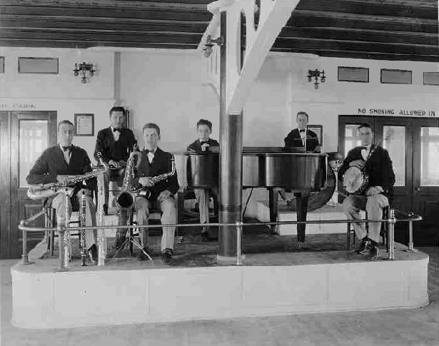 The Southbound Shufflers (ca. 1924).  Harold Arlen at the piano.